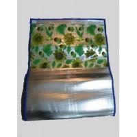 Коврик соломенный с фольгой  сумочкой (180х195см) 40шт/упак 13446
