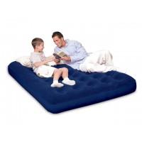 Надувная кровать Bestway флокированная с электронасосом (193x142x23см) 67287