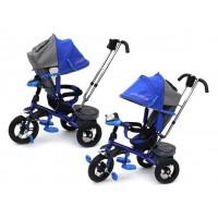 """Трехколесный велосипед LEXUS TRIKE, поворотное сидение, свободный ход колеса, надувные колеса 12"""" и 10"""" (красный)"""