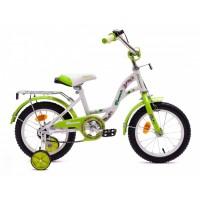 """Детский велосипед Flower 16"""" (Белый / Зеленый; Белый / Розовый; Белый / Фиолетовый)"""