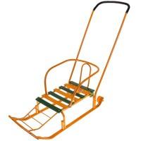 Санки Тимка 5 Юниор Комфорт (с большим колесом) (оранжевый)