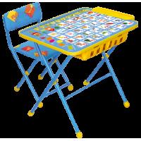"""Комплект детской мебели Ника Детям """"Никки"""" Азбука с большим пеналом (стол+стул мягкий)"""