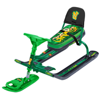 Снегокат «ТИМКА СПОРТ» со спинкой ТС4-1 (Graffiti green (зеленый каркас))