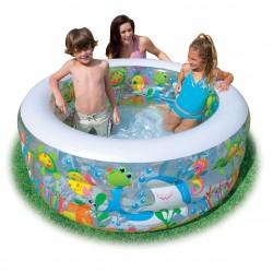 """Надувной бассейн Intex """"Аквариум"""" с надувным дном (152х56см) 58480"""
