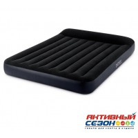 Матрас надувной Pillow Rest Classic Fiber-Tech (152 х 203 х 25 см) 64143 INTEX