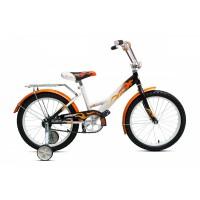 """Велосипед Комета 16"""" (Белый / Оранжевый / Черный)"""