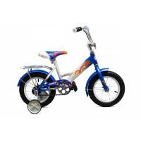 """Детский велосипед Комета 16"""" (белый / синий)"""