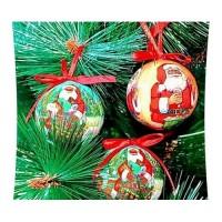 """Набор елочных игрушек """"Рождественские"""" 8 шт. (диаметр 60мм.)"""