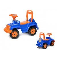 Каталка Машина для катания детей, вес ребенка до 30 кг синяя ОРИОН