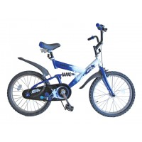 "Велосипед 20"" 1ск. SAFARI proff Стихии 2-х колесный, пер/зад тормоз, багажник, задний амортизатор, GT6643"