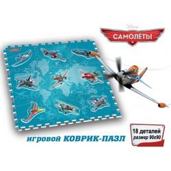 Коврик-пазл Самолеты 90*90*1см, 18 дет, TM DISNEY  1120790