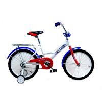 """Детский велосипед Юнга 18"""" (Белый / Красный / Синий)"""