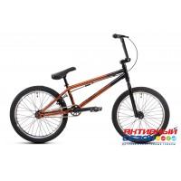 """Велосипед ASPECT STREET (20"""" 1 скор.) (Цвет: Коричнево-черный) рама Сталь"""