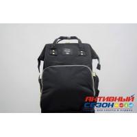 Сумка-рюкзак для мамы LeQueen с USB (черный)