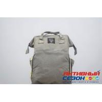 Сумка-рюкзак для мамы LeQueen с USB (серый)
