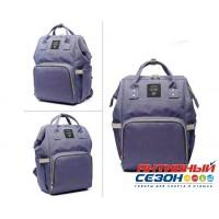 Сумка-рюкзак для мамы LeQueen с USB (сиреневый)