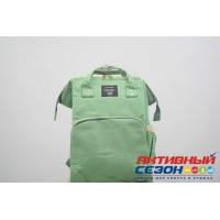 Сумка-рюкзак для мамы LeQueen с USB (зеленый)
