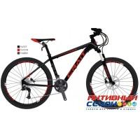 """Велосипед CRAIT EVOLINE UNION HD 27,5 (2019) (27.5"""" 24 ск.) (Р-р = 18""""; Цвет: черный-красный) Рама Алюминий"""