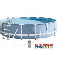 Бассейн каркасный Intex Prism Frame Pool, 366 х 99 см + фильтр-насос + лестница INTEX 26716