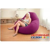 Надувное кресло-мешок Intex Deluxe Velvet Chair (122х127х81)  68584