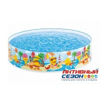 "Детский каркасный бассейн ""Утёнок"", 122*25 см INTEX 58477"