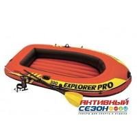 Лодка Explorer pro 300, 3-х местн., 244х117х36 см, вёсла, ручной насос, до 200 кг 58358NP INTEX