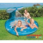 Детский бассейн с фонтаном Голубой Кит INTEX 57435 208Х157Х99
