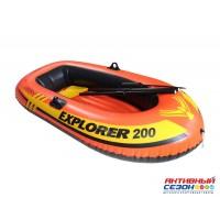 "Надувная Лодка ""Explorer 200"" 2-мест. (185х94х41см) + насос + весла (58331) INTEX"