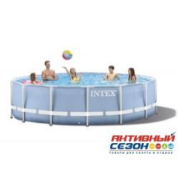 Каркасный бассейн Intex (366x99 см) + насос-фильтр, лестница (28718)