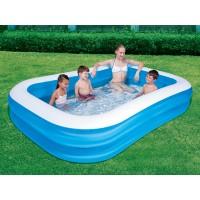 Надувной бассейн Bestway семейный прямоугольный (269*175*51см) 54006