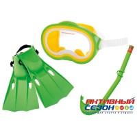 Набор для плавания Intex (маска+трубка+ласты на ремне) 55955