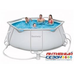 Каркасный бассейн Bestway (356 х 102 см) в комплекте насос-фильтр, 56245