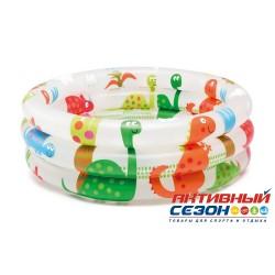 """Надувной бассейн """"Динозавры"""" Intex (61x22 см) 57106"""