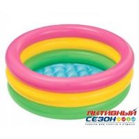Надувной бассейн Intex 3 кольца с надувным дном (61х22) 57107