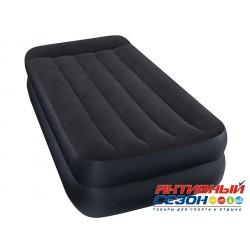 Надувная кровать INTEX PILLOW REST RAISED BED с встроенным насосом 220В (99х191х42см) 64122