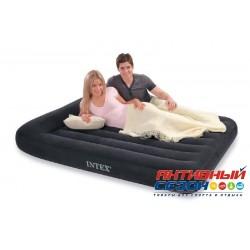 Надувная кровать Intex Pillow Rest Classic Bed Full с насосом 220 В (152x203x23 см) (66781)