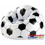 """Надувное кресло """"Футбольный мяч"""" Bestway Beanless Soccer Ball Chair (114х112х71 см) 75010"""