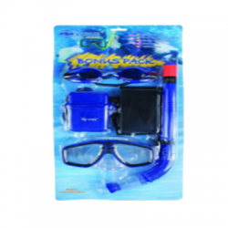 Набор для плавания детский S-1 (маска+очки+трубка+бокс+сумка)