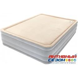 Надувная кровать BestWay Foam Top Comfort Raised Airbed (Queen) (152х203х46см) со встроенным насосом, мягкий верх 67486 BW