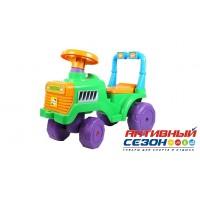 Каталка 931 Трактор для катания детей, зеленый ОРИОН 1018750