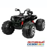 Квадроцикл на аккумуляторе JS3188 черный, д/катания детей весом до 45кг, 102*46*90см