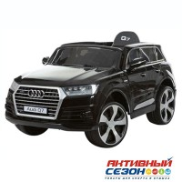 Машина на аккумуляторе AUDI JJ2188 черная, Р/У, д/катания детей весом до 35кг, 122*63*47см