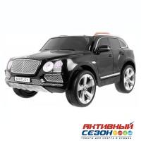 Машина на аккумуляторе BENTLEY JJ2158 черная, Р/У, д/катания детей весом до 35кг, 125*73*58см