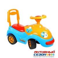 Каталка 174 Машина голубая для катания детей, Луноходик