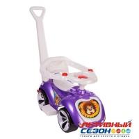 Каталка 809 Машина фиолетовая с ручкой для катания детей, Лапка