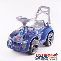 Каталка Машина синяя для катания детей, со звуком Ламбо