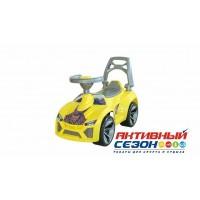 Каталка 021 Машина желтая для катания детей Ламбо