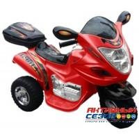 Скутер на аккумуляторе, звуковые и световые эффекты (красный)