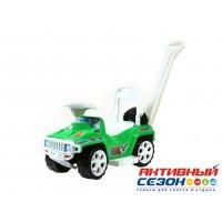 Машинка Ориончик с ручкой (зеленый)