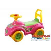 """Автомобиль для прогулок """"Принцесса"""" (розовый-желтый)"""